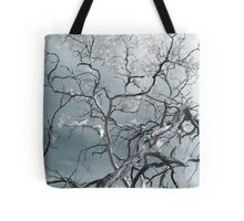 white ghosts shriek and the forest is awake Tote Bag