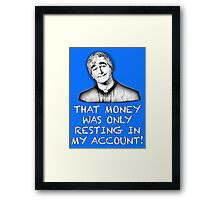 FATHER TED - MONEY Framed Print