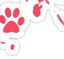 mucky pup Sticker