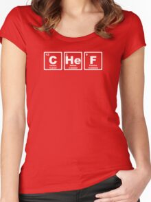 Chef - Periodic Table Women's Fitted Scoop T-Shirt