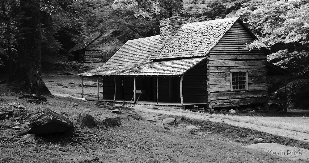 Bud's cabin and Barn by Kevin Price