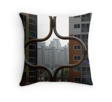 Looking through the Curves Throw Pillow