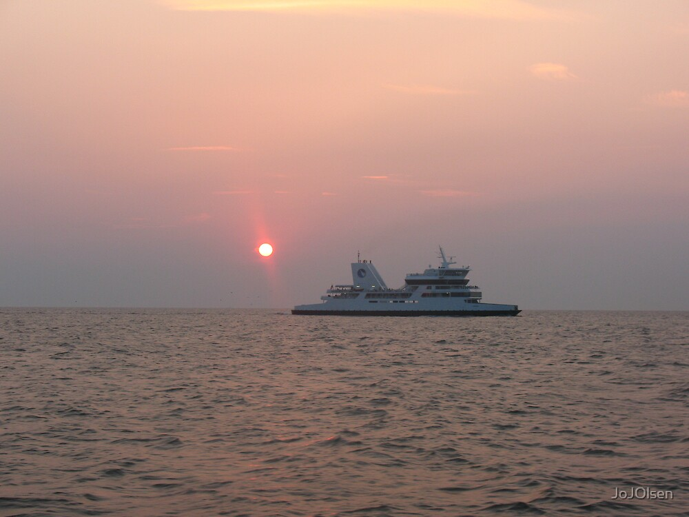 Distant Sunset by JoJOlsen