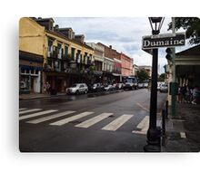 Rain Soaked Dumaine - New Orleans, LA Canvas Print
