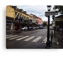 Rain Soaked Dumaine - New Orleans, LA Canvas Print