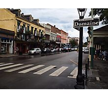 Rain Soaked Dumaine - New Orleans, LA Photographic Print