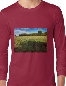 Green wheat field Long Sleeve T-Shirt