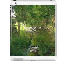 Small wooden bridge over river iPad Case/Skin