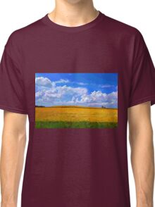 Wheat field in vivid colors Classic T-Shirt