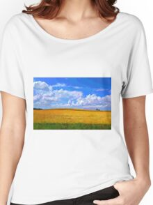Wheat field in vivid colors Women's Relaxed Fit T-Shirt