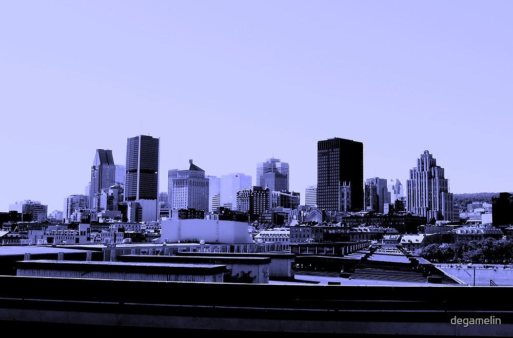montreal skyline by degamelin
