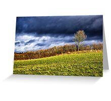 Country landscape with dramatic cloudscape Greeting Card