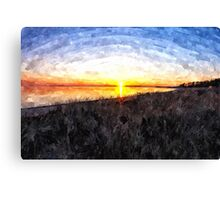 Beautiful sunset above the sea Canvas Print