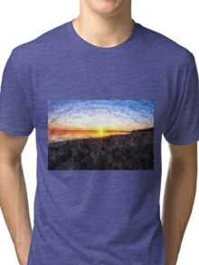 Beautiful sunset above the sea Tri-blend T-Shirt