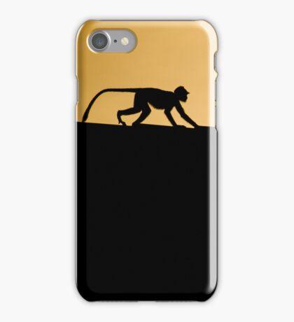 Monkey Silhouette iPhone Case/Skin