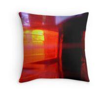 Flashing Reds Throw Pillow