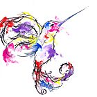 watercolour hummingbird  by Perggals© - Stacey Turner
