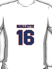National Hockey player Troy Mallette jersey 16 T-Shirt