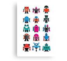 Robots fabric Canvas Print