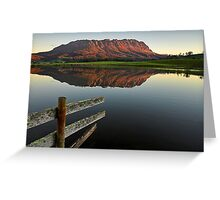 Mount Roland Reflections Greeting Card