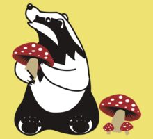 Badger, Badger, Badger, Badger, Mushroom Kids Clothes