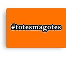 Totes Magotes - Hashtag - Black & White Canvas Print