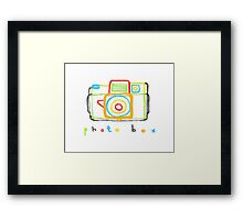 photo box Framed Print