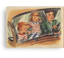 Retro Unsafe Driving Canvas Print