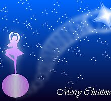 Ballerina Christmas card by 4Flexiway