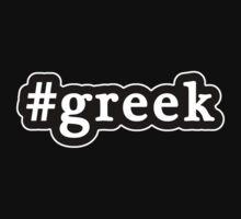 Greek - Hashtag - Black & White Kids Tee