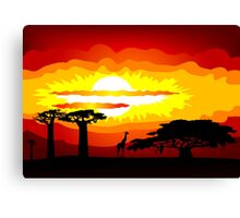 Africa sunset Canvas Print