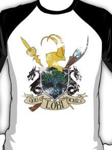 God of Mischief Crest - distressed T-Shirt