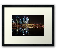 Singapore: Fullerton Hotel and Finance Centre Skyline Framed Print