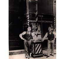 Newman's Barber Shop Photographic Print