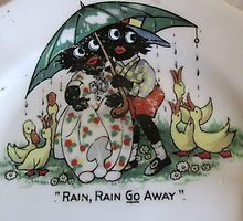 Golliwogs saying Rain Rain Go Away by TippyToes
