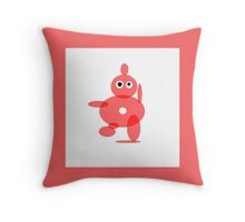 TOMATO SOUP RED ABSTRACT FIGURE Throw Pillow