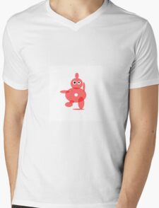 TOMATO SOUP RED ABSTRACT FIGURE Mens V-Neck T-Shirt