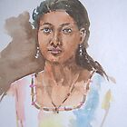 portrait of a girl by suresh pethe