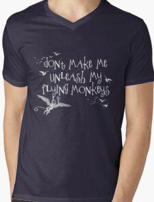 Wizard of Oz Inspired - Don't Make Me Release My Flying Monkeys - Chalkboard Art - Parody Mens V-Neck T-Shirt