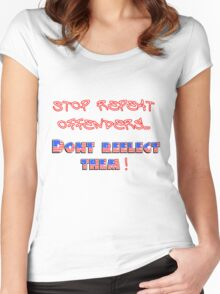 Stop Offenders Women's Fitted Scoop T-Shirt