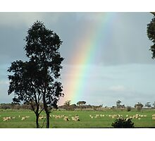 Somewhere over the rainbow... Photographic Print