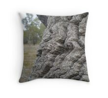 Wood Sculpture Throw Pillow