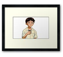 Shinji with a Coffee Mug Framed Print
