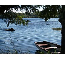 Rowing boat moored on the banks of Lough Eske, County Donegal, Ireland. Photographic Print