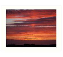 Sunset Tory Island, County Donegal, Ireland. Art Print