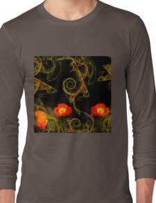 Decorative poppy Long Sleeve T-Shirt