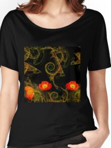 Decorative poppy Women's Relaxed Fit T-Shirt