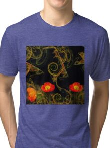Decorative poppy Tri-blend T-Shirt