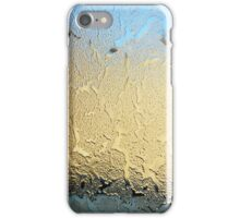 Ice gathering on glass iPhone Case/Skin