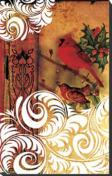 christmas birds 1 by Narelle Craven